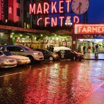 Pike Place Market Seattle at Night