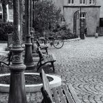 Cobbled Streets of Luxembourg City in Monochrome