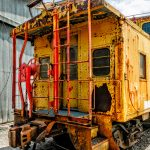 Rusty Union Pacific Caboose, Grapevine Vintage Railroad