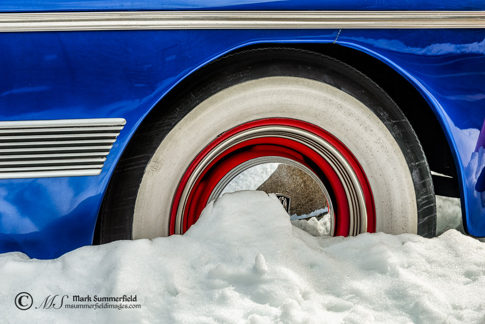 Antique Cars in the Snow