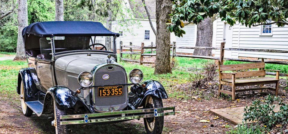Model A Ford 4-Door Convertible
